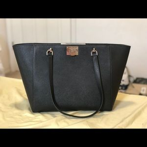NWT Tina Large Saffiano Leather Shoulder Tote Bag
